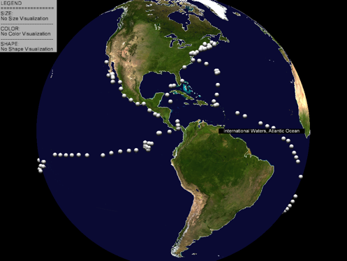 latitudes and longitudes. latitude, longitude, date,